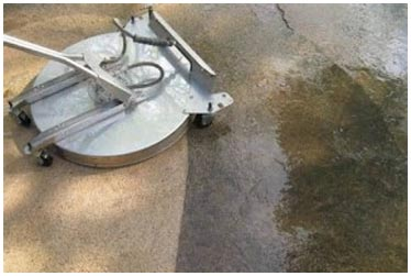 Jeff's Power Washing cement cleaning machine