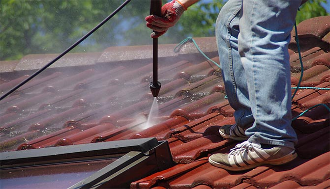 Jeff's Power Washing roof cleaning service